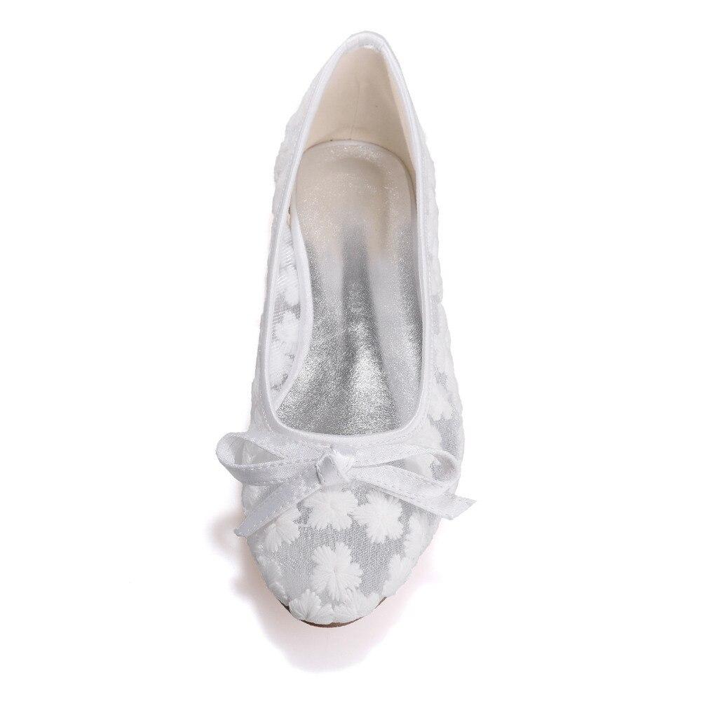 Sandali Da A Donna Sposa Bianco Lace Creativesugar Blu Ballo Rosa Punta Arco Piatta Prospettiva Avorio Dolce See Through Scarpe q1gPTB