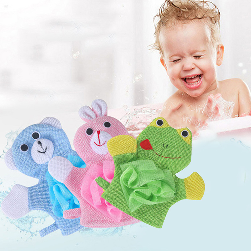 Cartoon Animal Baby Bath Glove Gloves Soft Not Hurt Skin Cute Baby Bath Flower For Body Wisp Dry Brush Home Bathroom Products