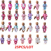 Baby Born Clothes For Dolls Fit 43cm Baby Born Zapf Doll Wholesale 25PCS Different Mixed Doll Outfits With Doll Accessories