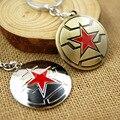 ZIDOM Marvel movies The Avengers Captain America Winter Soldier Shield keychain Key Ring Holder Gift Chaveiro  llaveros