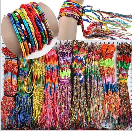 3pcs lot Rainbow Strand Bracelet Men and Women Jewelry paracord NEW Designs Unisex Hippie laces