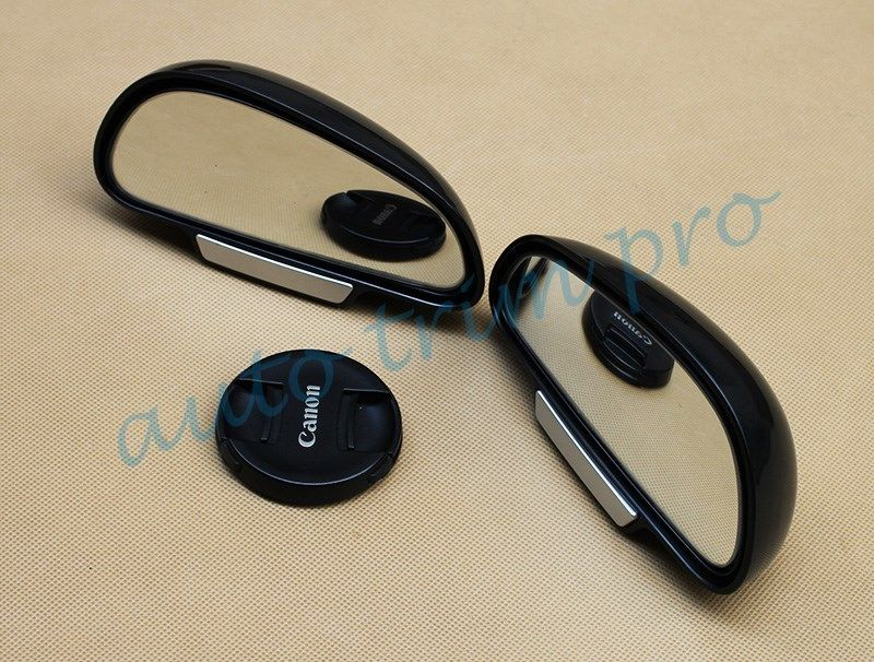 Pair Auto Auxiliary Rear View Rearview Side Blind Spot Mirror Safe Cover Trim Accessories Islamabad