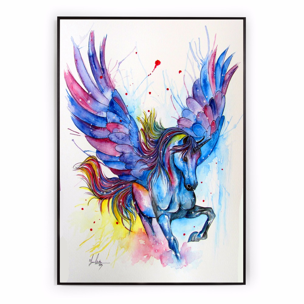 This is an image of Revered Colorful Unicorn Pictures