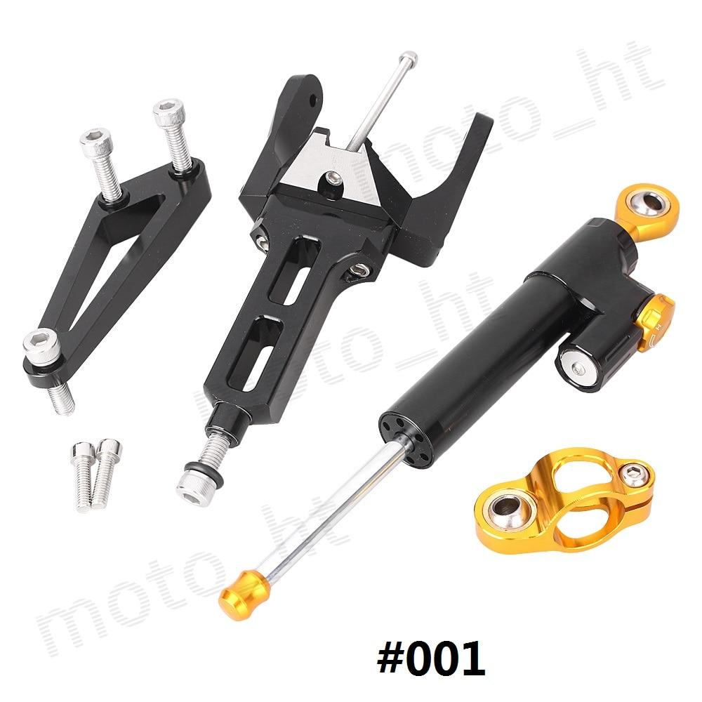 ФОТО CNC Steering Damper Stabilizer & Bracket Mounting Set for Honda CB1300 2003 2004 2005 2006 2007 2008 2009 2010 2011