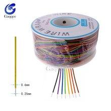 Оберточная проволока 8 30AWG изоляционная проволока B-30-1000 UL1423 0,25 мм Луженая Медь твердый ПВХ кабель макет перемычка провода разъем