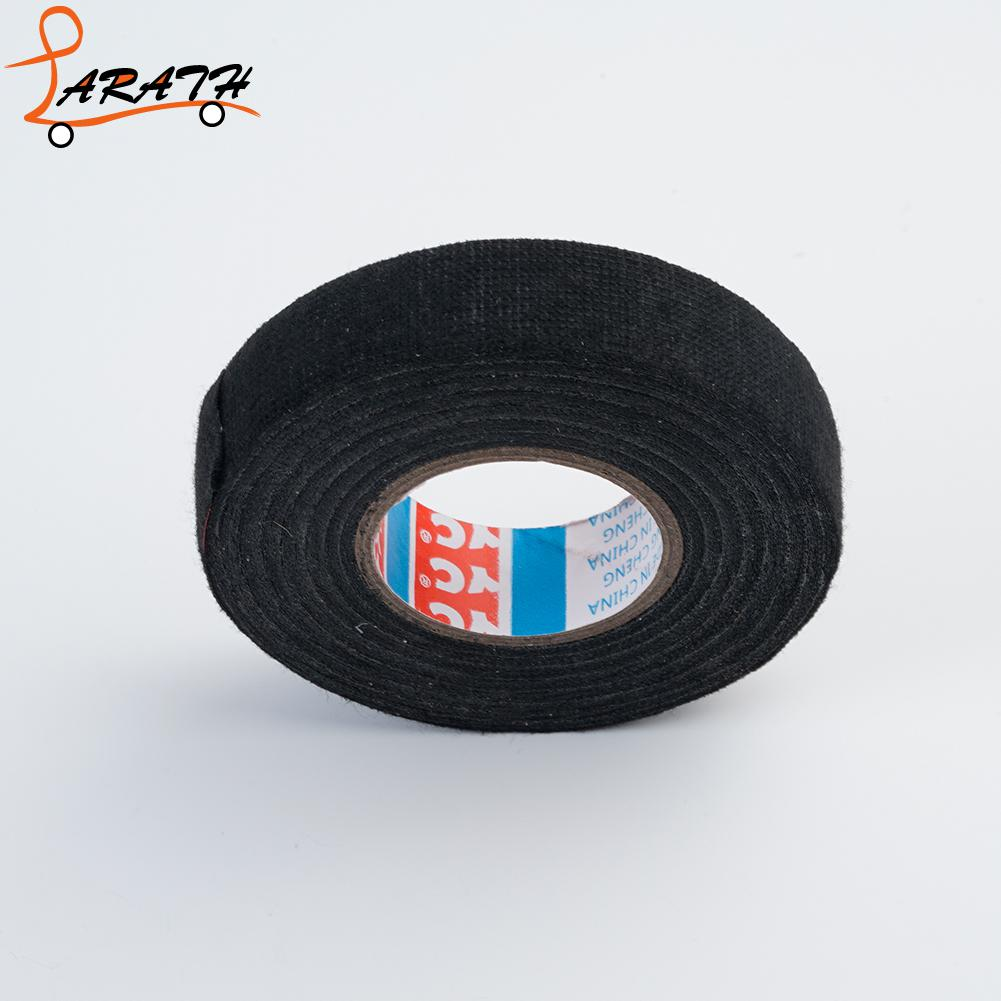 Larath 1 Pcs 15m Automotive Wiring Harness Electrical Tape 15m19mm Supplies Heat Resistant Adhesive Cloth Fabric Cable Wx1017 In Trunk Trim From Automobiles