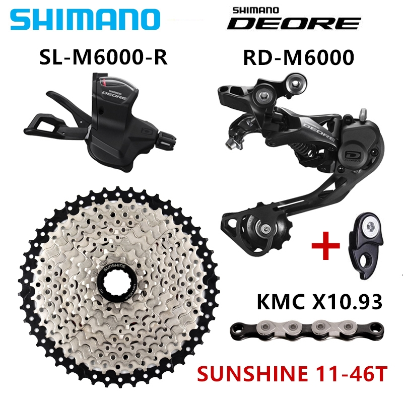 SHIMANO DEORE M6000 Groupset MTB Mountain Bike Groupset 1x10 Speed 11 46 50T M6000 Rear Derailleur