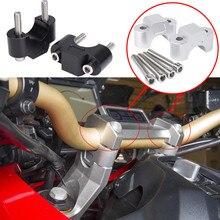 2Pcs Aluminum Motorcycle 28mm Handlebar Riser Handle Bar Clamp For Honda Xadv X-ADV X ADV 750 XADV750 2017-2018 Raiser