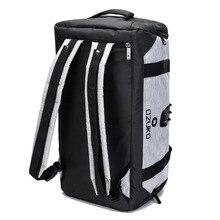 Ozuko男性バックパック防水旅行バッグ大容量の荷物袋ダッフルバッグオックスフォード男性レジャーハンドバッグファッションショルダーバッグ