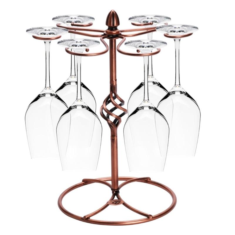 VFGTERTE 1PC Wine Stand Hanging Upside Metal Craft Decorative Racks Kitchen Bar Cup Holder Barware