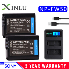 FREESHIPPING 1130mAh NP FW50 fw50 Camera Battery LCD USB Charger+ For Sony NP-FW50 Alpha a6500 a6300 a6000 a5000 a3000 NEX-3 a7R
