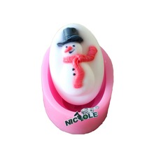 Snowman Silicone Christmas Soap Mold Craft DIY Handmade Candle Mould