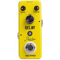 ROWIN LEF 314 Guitar Effects Classical Delay Analog Guitar Effects Pedal True Bypass Design Guitar Pure Analog Delay Effect