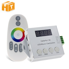 Colorful Music X2 Controller For WS2812B WS2811 WS2813 USC1903 DC5-24V with RF Touch Remote Max Control 1000 Pixels(China)