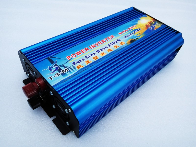 цена на potenco inverter Pura sinusa ondo inverter 2500w pure sine wave power inverter 12v 220v dc ac 2500W ren sinus inverter