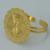 Chapado En oro de La Moneda conjunto Joyería de Largo Collar/Brazalete/Anillo/Pendientes de México/Ethiopian Regalos de Boda/African Jewelry #015706