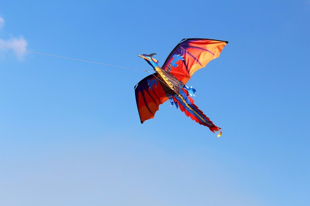 New-High-Quality-Classical-Dragon-Kite-140cm-x-120cm-Single-Line-With-Tail-With-Handle-and-Line-Good-Flying-Kites-From-Hengda-2