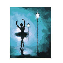 Decoration Oil Painting For Living Room,Night Ballet,Oil By Numbers,Diy Paint Number