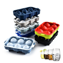 Yooap 6 even ice hockey mold silicone ball ice cream mold chocolate tray bar party cool whiskey ice cream tool все цены