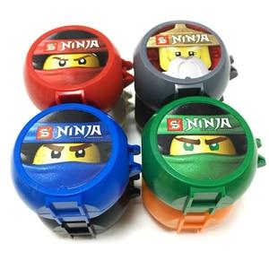 Image 2 - Ninja Seires Kendo Training Pods 8 w 1 zestaw Ninja Mini figurki Pack stojak DIY klocki dla dzieci prezent