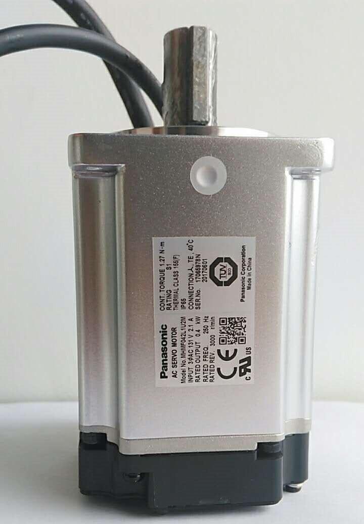 MHMF042L1U2M AC Servo motor 60mm frame 400w 3000rpm 1.27Nm new original servo motor msmd042g1u 400w 3000rpm 1 3n m full closed type 60mm