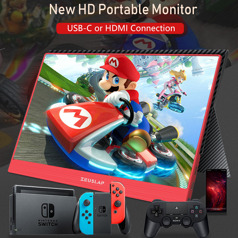 Image 5 - 15.6inch 1920X1080P FHD NTSC 72% USB C HDMI Portable Monitor for Switch Xbox One PS4 Portable LCD IPS Screen Monitor-in LCD Monitors from Computer & Office