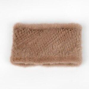 Image 2 - 2019 ฤดูหนาวแหวนถักผ้าพันคอผู้หญิง 100% ของแท้ขนสัตว์ผ้าพันคอ wraps หญิง Scarves สุภาพสตรี mink fur shawls สำหรับผู้หญิง wraps lady
