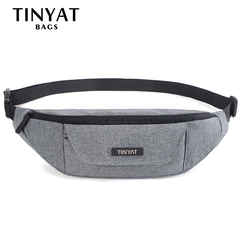 TINYAT Men Male Functional Waist Bag Pack Waterproof Men Phone Money Belt bag Pouch 3 pockets Large Canvas Fanny Bag Pack Hip men male casual functional canvas bag waist bag money phone belt bag pouch bum hip bag shoulder belt pack 2018