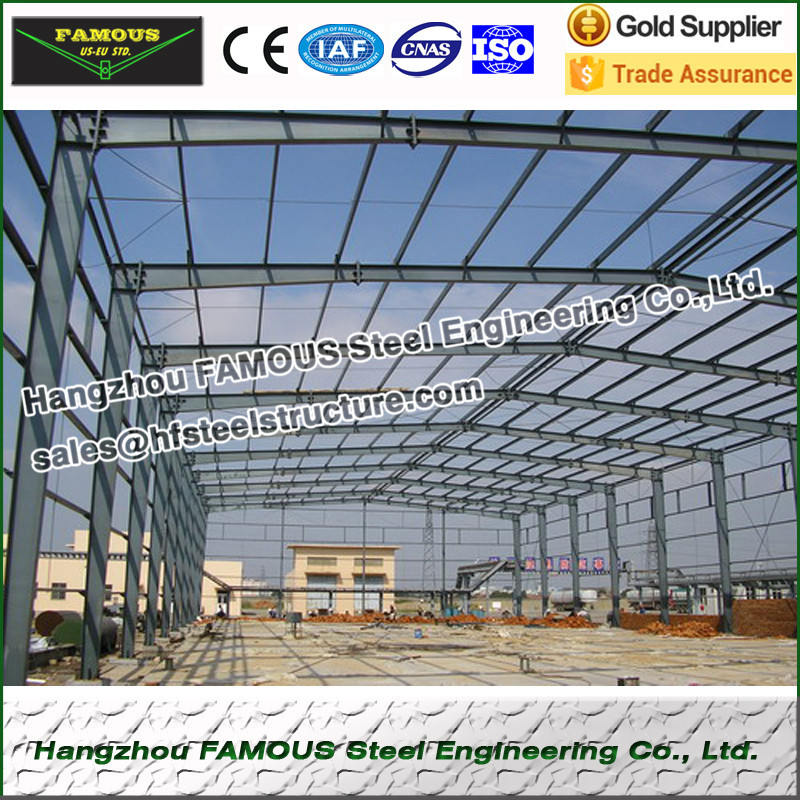 Prefabricated Steel Structure Workshop For Industry Use