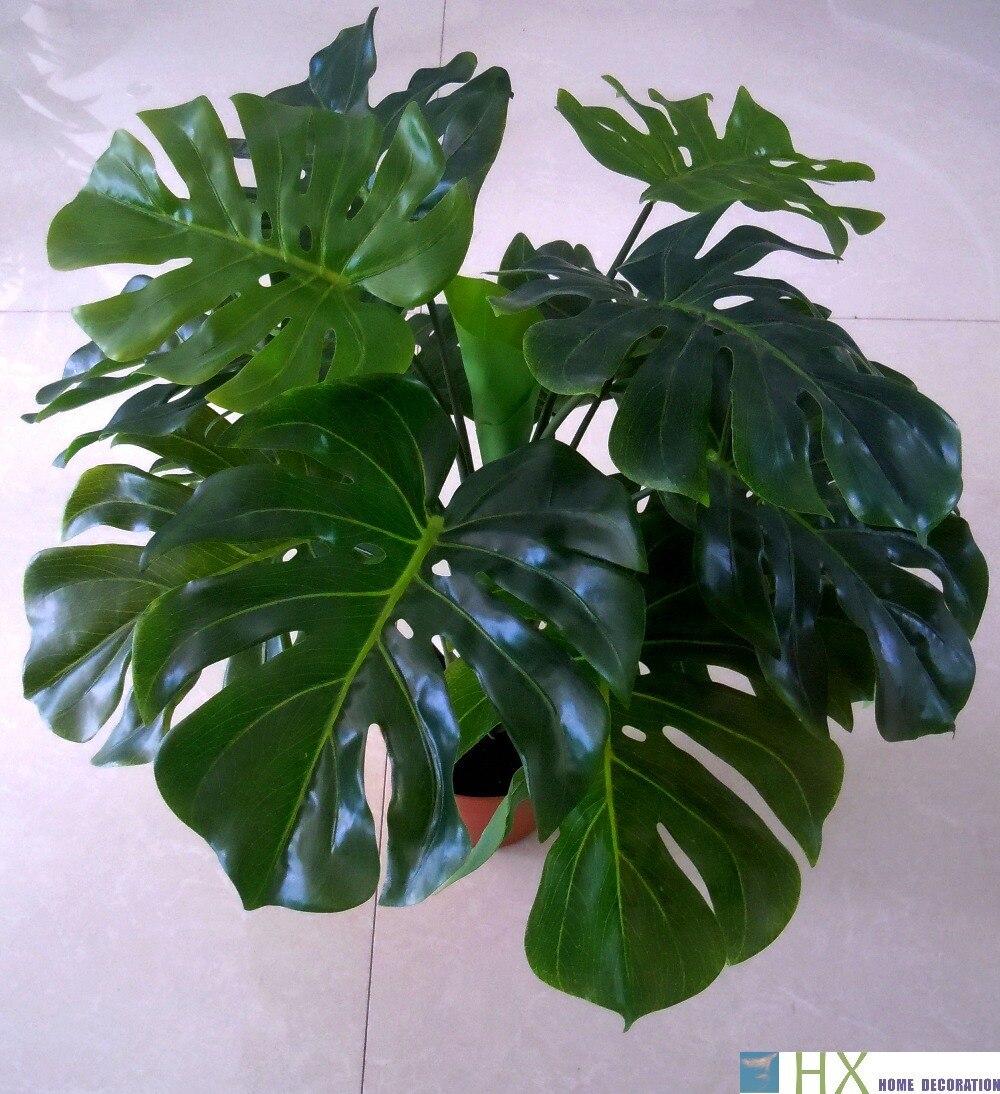 Envío gratis (13 hojas/pcs) Turtle hojas plantas, árbol Artificial, plantas Arti