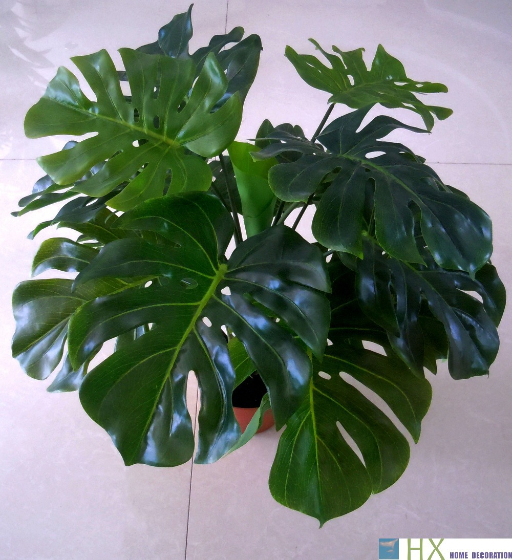 Free Shipping 13 Leaves Pcs Turtle Leaves Plants Artificial Tree Artificial