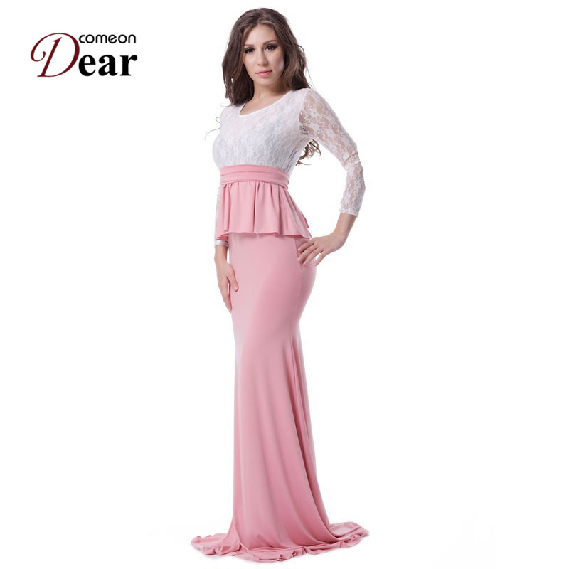 Comeondear RA70223 облегающее платье, облегающее и расклешенное кружевное вечернее платье русалки, длинные платья, прозрачное осеннее длинное вече...