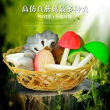 Mushroom oyster mushroom multicolour PU model soft decoration props
