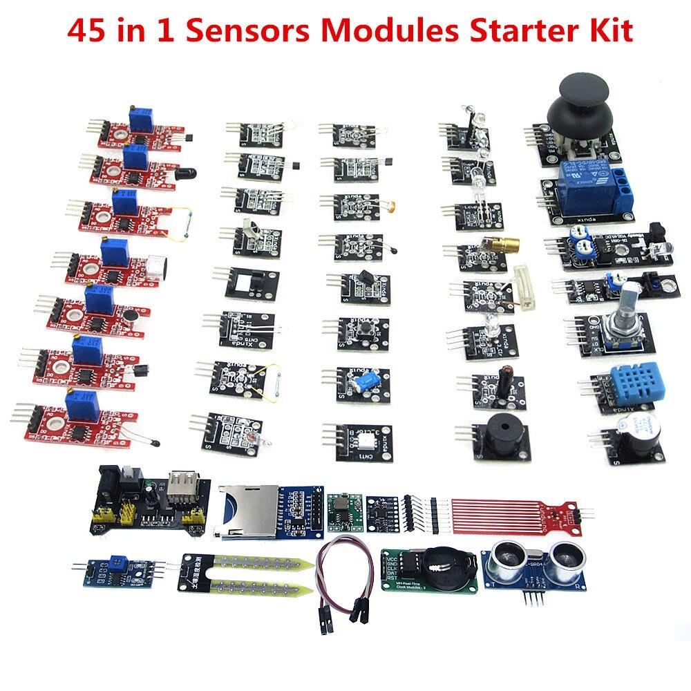 45 in 1 Sensoren Module Starter Kit 37 IN 1 SENSOR KITS HOCHWERTIGE (Arbeitet mit Offiziellen Boards) 100% neue