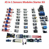 45 in 1 Sensori di Moduli Starter Kit 37 IN 1 Kit di SENSORI di ALTA QUALITÀ (Opere con Ufficiali Boards) 100% nuovo