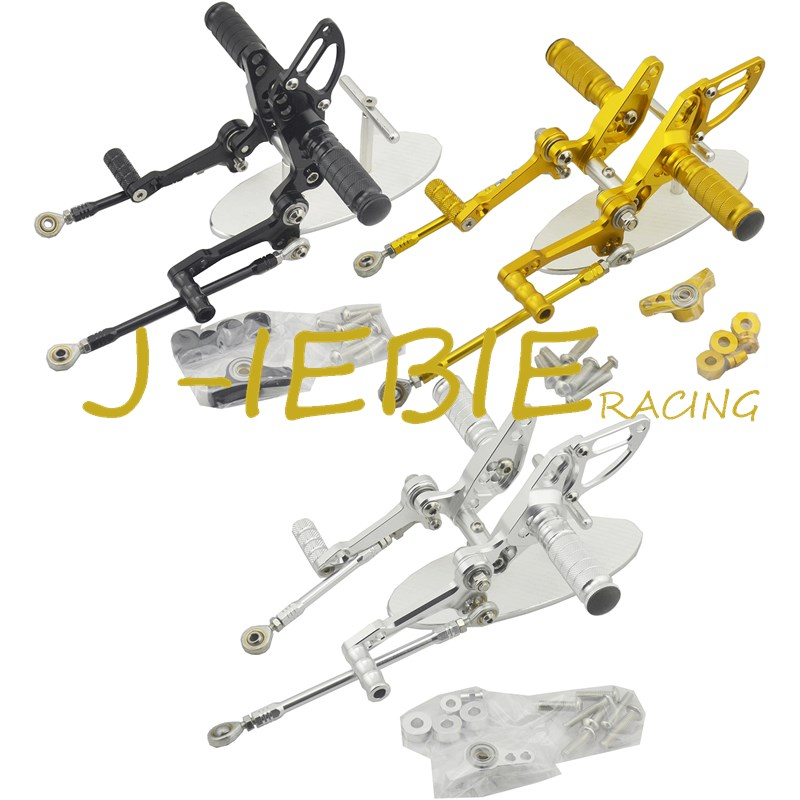 CNC Racing Rearset Adjustable Rear Sets Foot pegs Fit For  Ducati Streetfighter 848 1098 titanium cnc aluminum racing adjustable rearset foot pegs rear sets for yamaha mt 07 fz 07 mt07 fz07 2013 2014 2015 2016