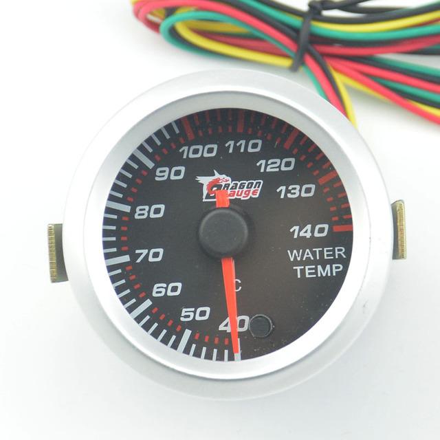 52mm puntero medidor de Auto de Carreras de motos de Agua Refit Centígrados temp gauge Stepper motor 7 Colores de Retroiluminación Envío gratis