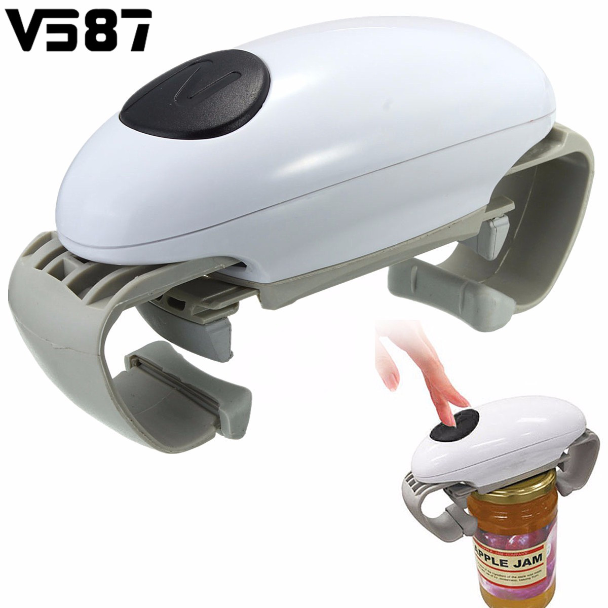 Automatic Electric One Touch Jar Opener Can Bottle Opener Hands Free Operation Battery Powered Kitchen Tools
