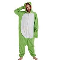 Animal Green Frog Kigurumi Adult Onesie Women Pajamas Party Fleece Sleepwear For Winter Halloween Carnival Costume Pyjamas