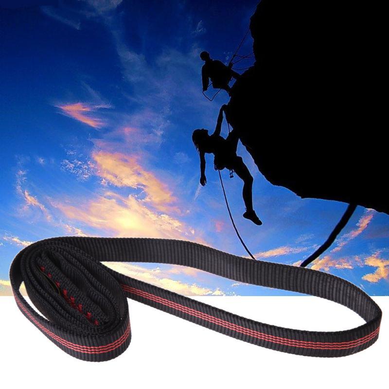 22KN 60cm Polyester Rock Climbing Sling Bearing Strap Reinforce Rope Belt Load-bearing Bandlet Mountaineering Outdoor Equipment