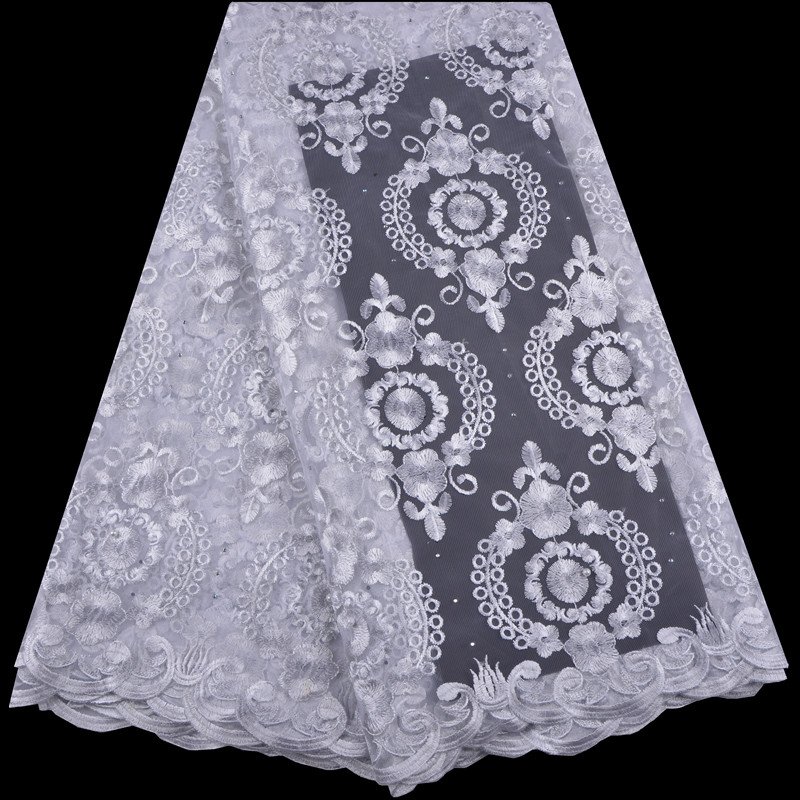 Traditional Muslim African Lace Fabric 2018 French Lace Fabric Embroidery Lace Fabric Bridal Wedding Nigeria Lace