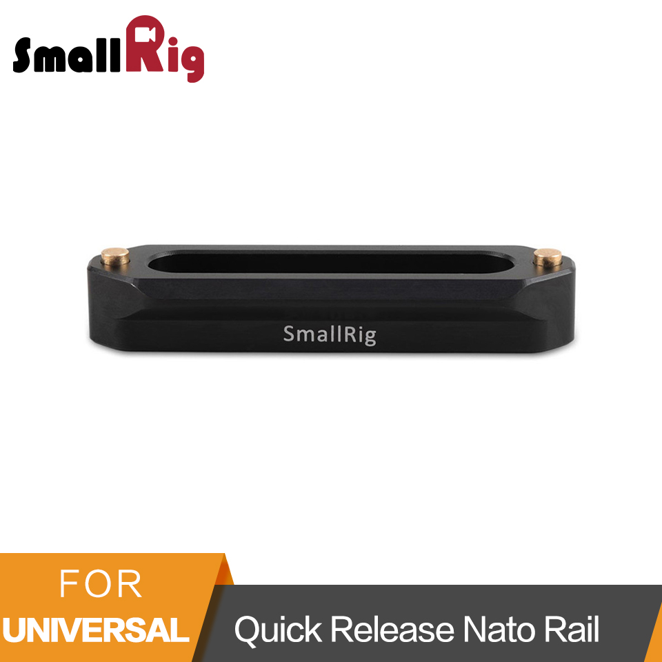 SmallRig Quick Release Safety Nato Rail 70mm Long With Spring Loaded Pins For RED Epic / Scarlet/ Blackmagic Camera-1195