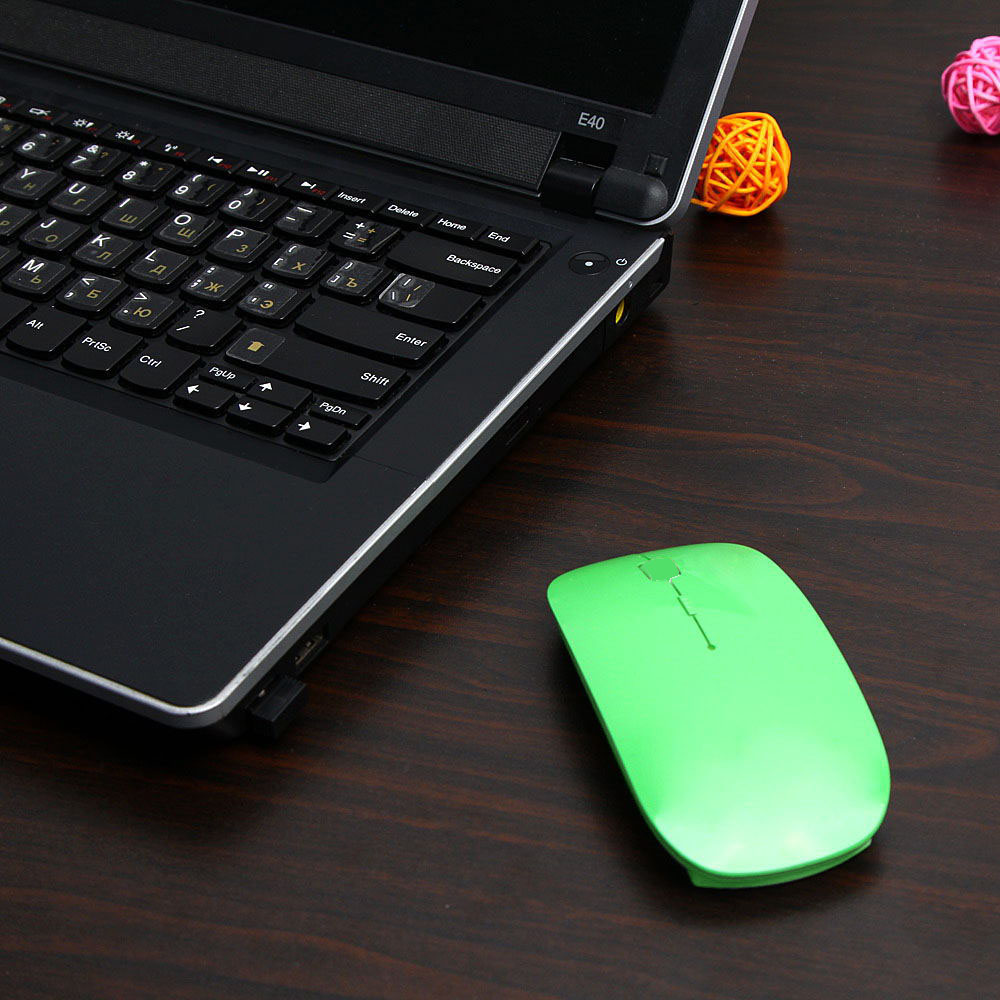 Computer & Office ... Computer Peripherals ... 32663968835 ... 5 ... 1600 DPI USB Optical Wireless Computer Mouse 2.4G Receiver Super Slim Mouse For PC Laptop ...