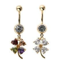 Elegant Crystal Navel Piercing Ombligo Body Jewelry Women Crystal Flower  Belly Button Rings Piercing Belly Ring Piercing Jewelry 659927ddea55