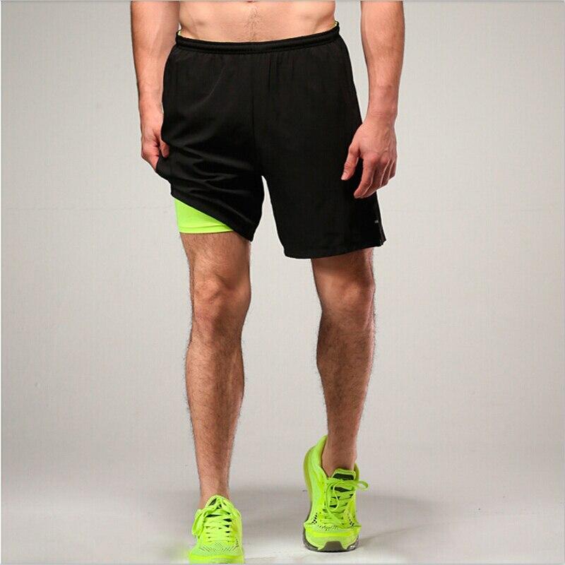 Mens shorts active sport GYM running shorts compression lycra boxer inside running  shorts bdb0392ec