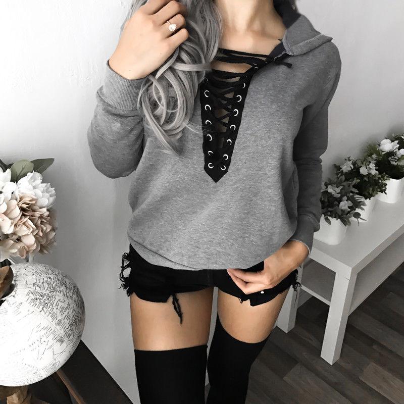 Fashion Women Casual Long Sleeve Hoodies Sweatshirts Hooded Outwear Ladies Jumper Pullover Tops Coat