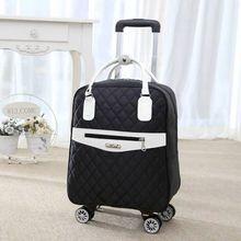 新しい女性旅行荷物スーツケースハンドバッグ、女の子キャビン防水オックスフォードローリングトロリースーツケース、女性キャリーアドオンホイールドラッグバッグ