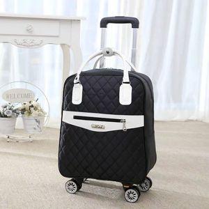 Image 1 - 新しい女性旅行荷物スーツケースハンドバッグ、女の子キャビン防水オックスフォードローリングトロリースーツケース、女性キャリーアドオンホイールドラッグバッグ