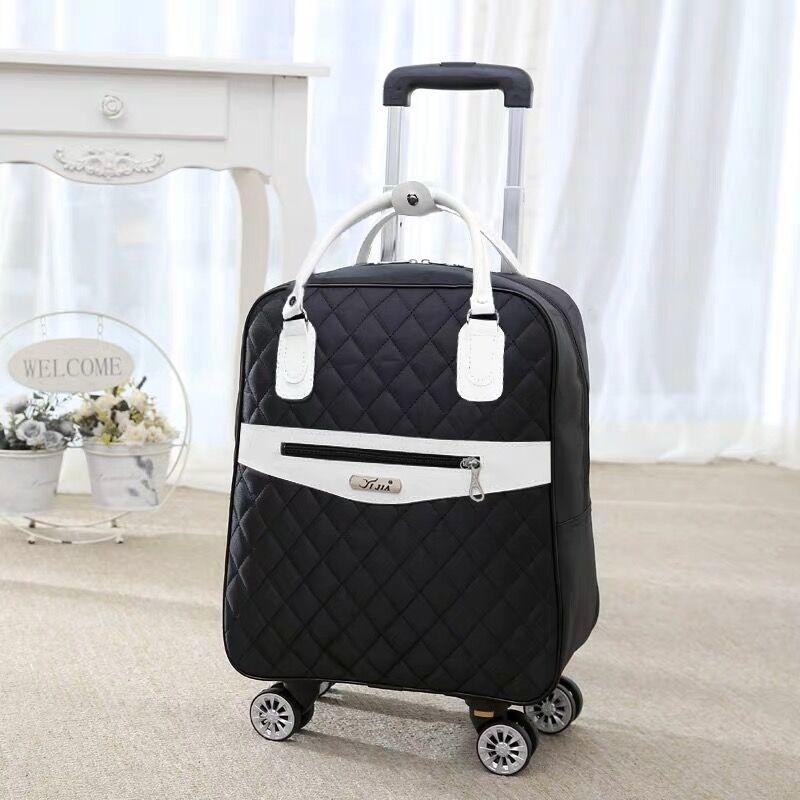 Neue Frauen Reisen Gepäck Koffer handtasche, mädchen Kabine Wasserdichte Oxford Roll Trolley koffer, dame Tragen Ons räder Drag tasche-in Koffer aus Gepäck & Taschen bei  Gruppe 1