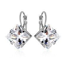 Diamond Stone Earrings Fashion Women Jewelry Simple Anti-allergy Tide Ladies OL Ear Jewelrys Gifts